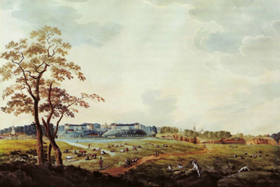 П.Свиньин Вид усадьбы Архангельское, 1824 г.