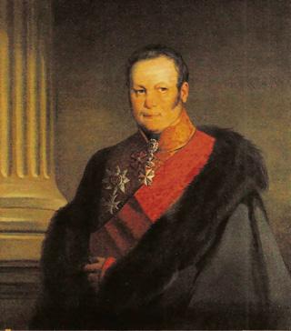 Неизвестный художник с оригинала К.Робертсон. Портрет Б.Н.Юсупова. Середина XIX в.