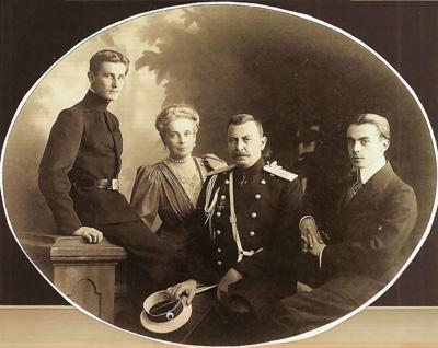 Ф.Ф.Сумароков-Эльстон, З.Н.Юсупова, Ф.Ф.Юсупов, Н.Ф.Сумароков-Эльстон. Фото 1900-х. гг.